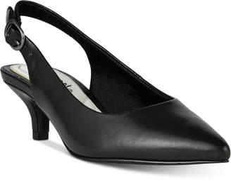 f94cfe11bfd Easy Street Shoes Faye Slingback Kitten-Heel Pumps Women Shoes