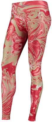 Unbranded Women's Zubaz Scarlet San Francisco 49ers Swirl Leggings