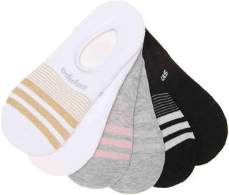 adidas Stripe No Show Liners - 6 Pack - Women's