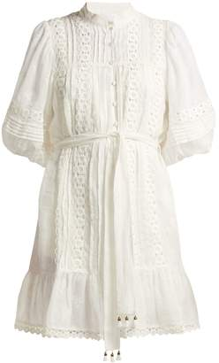 Zimmermann Castile Flower lace-trimmed voile dress