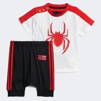 adidas (アディダス) - [MARVEL] スパイダーマン Tシャツ&ロークロッチパンツ 上下セット