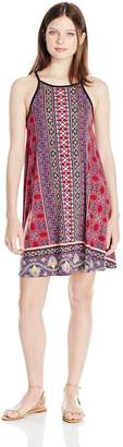 Angie Women's High Neck Spaghetti Strap Knit Dress