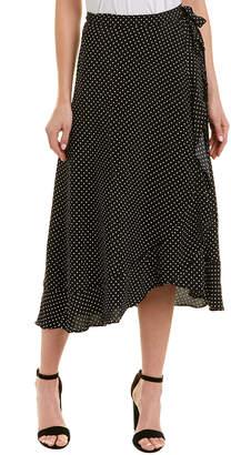 Three Dots Wrap Midi Skirt