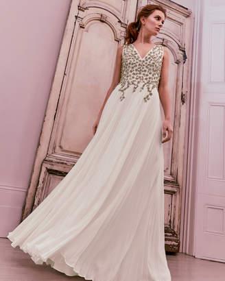 Ted Baker GELDA Embellished pleated maxi dress