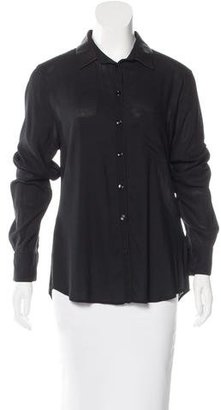 Boy. by Band of Outsiders Leather-Accented Button-Up Top $125 thestylecure.com