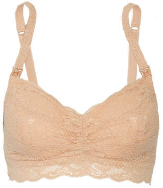 Cosabella - Never Say Never Mommie Stretch-lace Nursing Bra - Neutral $80 thestylecure.com