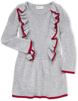 Design History Toddler Girls) Speckled Knit Sweater Dress