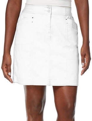 Karen Scott Petite Solid Knit A-Line Skirt
