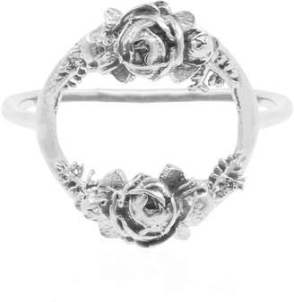 Lee Renee Rose Halo Ring- Silver