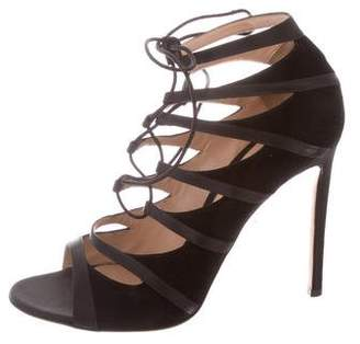 Gianvito Rossi Lace-Up Cage Sandals