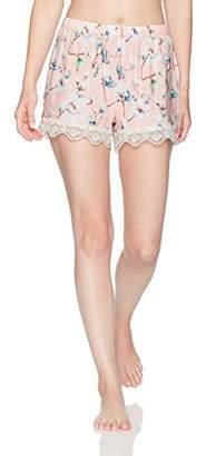 Selene Women's Knit Short with Lace Trim