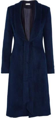 Rebecca Vallance Bava Herringbone Llama And Wool-blend Coat - Navy
