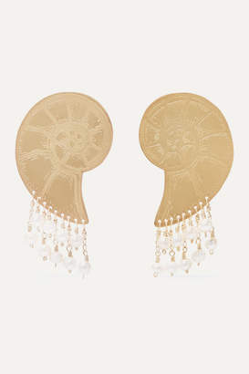 Mercedes Salazar Gold-tone Faux Pearl Earrings - one size