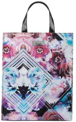 Harrods Medium Geo Floral Shopper Bag