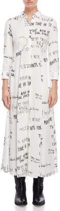 Each X Other Handwriting Maxi Shirt Dress