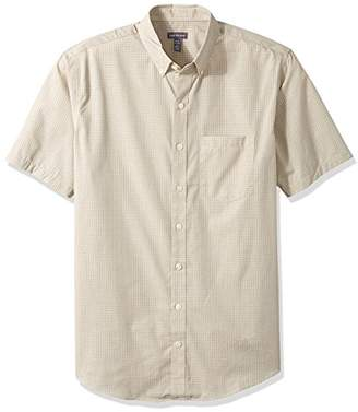 Van Heusen Men's Size Big and Tall Wrinkle Free Short Sleeve Button Down Twill Shirt