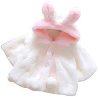 Nicerokaka Baby Infant Girls Winter Warm Coat Cute Rabbits Ears