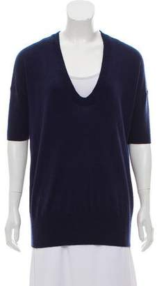 Barneys New York Barney's New York Short Sleeve Wool Sweater