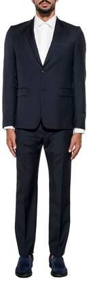 Mauro Grifoni Dark Blue Monaco Wool 2 Piece Suit