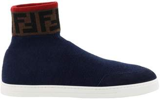Fendi High Top Ff Sneakers