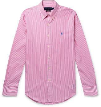 354cb916 Polo Ralph Lauren Slim-Fit Button-Down Collar Striped Cotton-Poplin Shirt