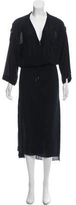Helmut Lang Long Sleeve Maxi Dress