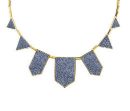 House Of Harlow Blue Five Station Necklace
