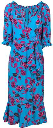 Saloni floral print midi dress