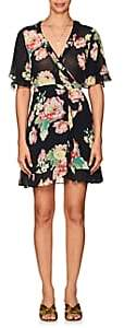 By Ti Mo byTiMo Women's Floral Crepe Wrap Dress - Black