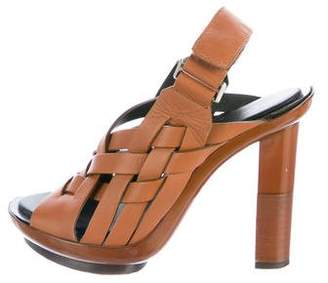 Calvin Klein Collection Woven Leather Sandals