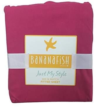 Banana Fish Bananafish Studio Collection HOT Pink Crib Sheet