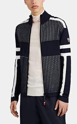 Rossignol Men's Alberic Wool-Blend Zip-Front Sweater - Blue Pat.