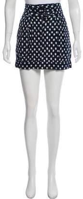 Nili Lotan Patterned Mini Skirt