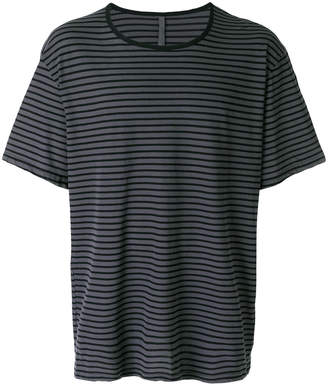 Attachment loose fit stripe T-shirt