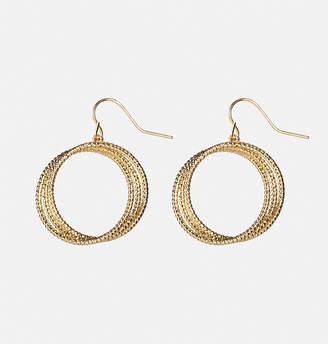 Avenue Gold Triple Circle Earrings