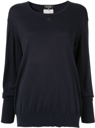 Chanel Pre-Owned 1995 embroidered interlocking CC jumper