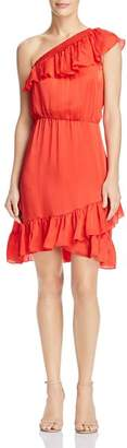 Saylor One-Shoulder Ruffled Dress