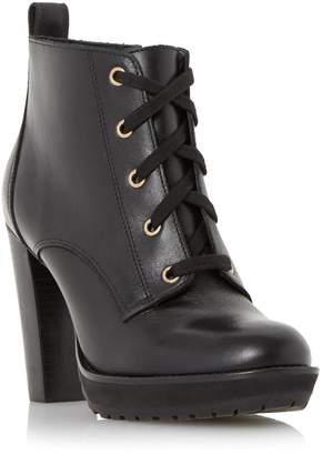 at Dune Dune LADIES ONSLOW - Stacked High Heel Lace Up Ankle Boot