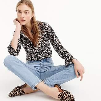 J.Crew Tall slim perfect shirt in leopard print