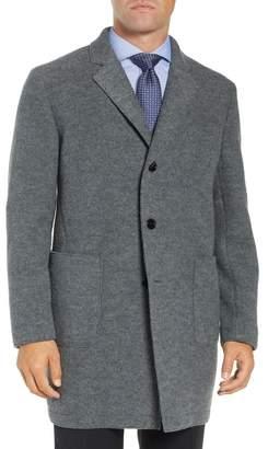 BOSS Sergio Trim Fit Wool Overcoat