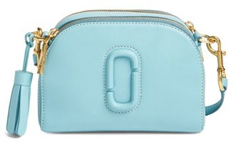 Marc Jacobs Small Shutter Leather Camera Bag - Blue $325 thestylecure.com