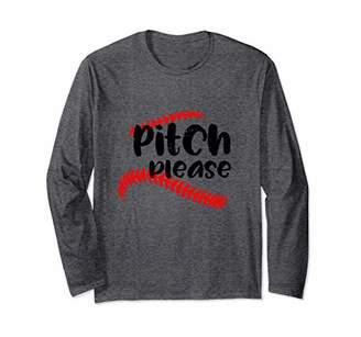 Softball Baseball Pitch Please Women's long sleeve Shirt
