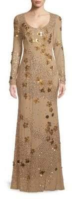 Zac Posen Studded Open Back Gown