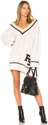 FENTY PUMA by Rihanna V Neck Cable Knit Sweater