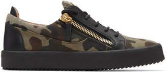 Giuseppe Zanotti Khaki Camo May London Sneakers