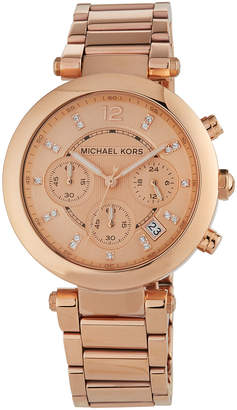 MICHAEL Michael Kors 39mm Parker Chronograph Bracelet Watch, Rose Gold