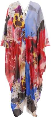 Roberto Cavalli Floral-printed silk dress