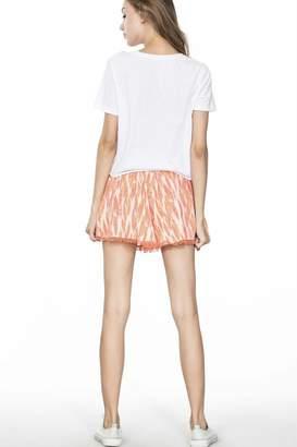 En Creme Lace Trim Shorts
