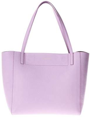 Salvatore Ferragamo Lilac Leather Tote Bag With Logo