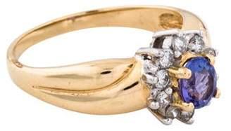 Ring 14K Tanzanite & Diamond Cocktail
